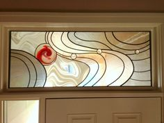 MASTER BATH - HOW ABOUT A STARFISH INSTEAD OF THE CIRCLE?  Transom Stained Glass Window