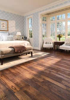 Pickled, distressed, and antiqued wood floors. A clear coat or two of polyurethane with aluminum oxide makes wood floors nearly indestructible.