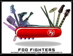 Foo Fighters Boston, Fenway Park Poster by Emek Foo Fighters Poster, Foo Fighters Dave Grohl, Daria Characters, There Goes My Hero, Rock Band Posters, Fenway Park, Concert Posters, Music Posters, Art Music