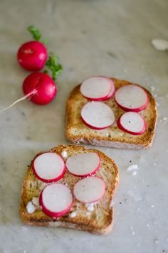 Homemade Vegan Butter with Radishes and Toast (Lecithin, Soy, Nut, Gluten and Dairy Free)