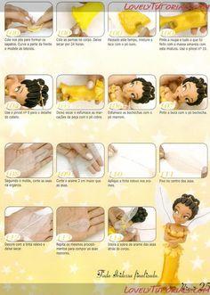 МК как слепить волосы/парик для куклы -How to Make a Doll Wig / Doll Hair - Page 5 - Мастер-классы по украшению тортов Cake Decorating Tutorials (How To's) Tortas Paso a Paso