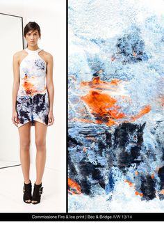 Fire & Ice print for Bec & Bridge Isosceles A/W collection.