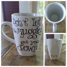 Custom Coffee Mug. Harry Potter Muggles. by LoveItGetItGotIt, $14.50