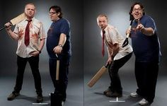 Simon Pegg et Nick Frost, 'Shaun of the dead', 2004