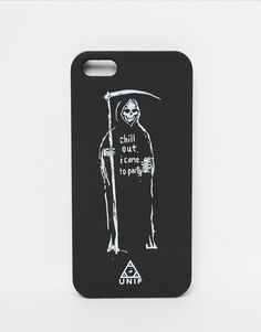 iPhone 5 case by UNIF Protective clip-on case Grim Reaper design Suitable for use with the iPhone 5 Do not wash 100% Plastic