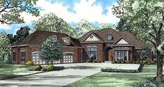 House Plan 61160 |  Plan with 4300 Sq. Ft., 4 Bedrooms, 5 Bathrooms, 3 Car Garage