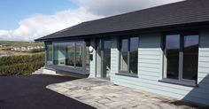 From bungalow to beach house, Redstrand, Ardfield, West Cork. Bungalow Conversion, Modern Farmhouse, Farmhouse Ideas, Bungalow Renovation, Modern Bungalow, Courtyard House, House Extensions, Home Projects, Beach House