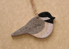 Primitive Crow Ornament Stoneware Made In by ConceptsInClay