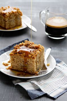 Banana bread, coffee cake.