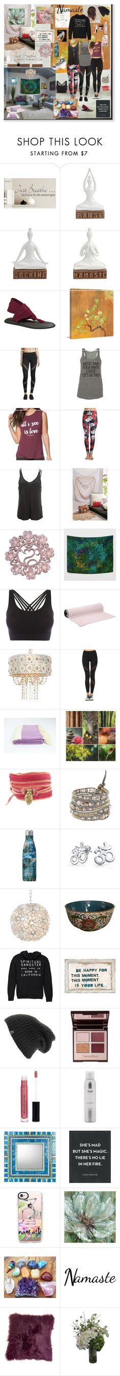 """Dream Yoga Studio, Namaste"" by tina-meri ❤ liked on Polyvore featuring sanuk, Marmont Hill, Alo Yoga, Spiritual Gangster, NOVICA, Pepper & Mayne, No Ka'Oi, Catherine Michiels, Chan Luu and S'well"