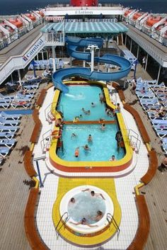 Upper deck of Carnival Cruise ship.