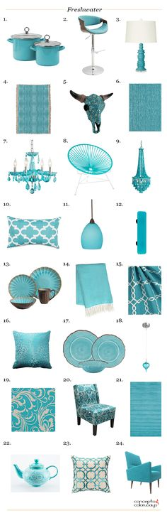 sherwin williams freshwater product roundup, interior styling ideas, turquoise, teal