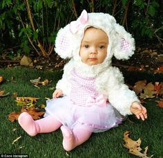 'My little lamb..': Sunday saw the arrival of Chanel's third costume...