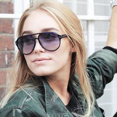 Sina D in Juke Sunglasses in Blue Tort
