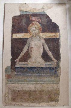Niccolò di Pietro Gerini (scuola di) - Pietà - affresco - 1387 - Sala capitolare, Chiesa di S. Felicita, Firenze