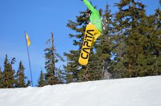 Catching some shots of snowboarders and skiers in action up at Timberline on Mt. Hood