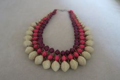 Savannah statement paper bead necklace by BaNyabo on Etsy