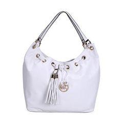 Michael Kors Camden Drawstring Large White Shoulder Bags