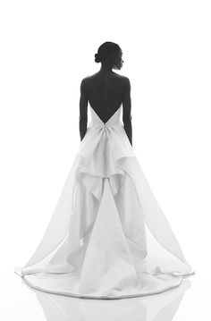 Pamella Roland. See more dresses from Bridal Fashion Week that are just GORGEOUS from the back.