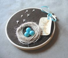 Wall Hanging Nest with Robin Eggs I WILL BE by BelleCoccinelle, $17.00