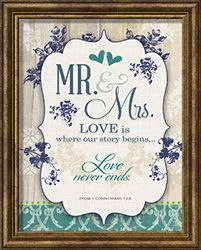 Title: Framed Art - Mr. & Mrs. Wedding Collection data-pin-do=