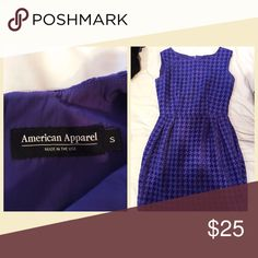 Dress Beautiful purple houndstooth patterned dress. Perfect for the office, weddings, interviews, pageant appearances or anything where you need to dress up a bit!! American Apparel Dresses