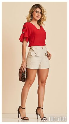 LOOK BOOK 10 – Cora Canela Summer Outfits Women, Short Outfits, Spring Outfits, Short Dresses, Girl Outfits, Mode Rockabilly, Blouse Styles, Madame, Modest Fashion