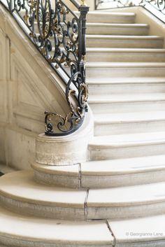 Staircase, Musee Rodin, Paris, by Georgianna Lane