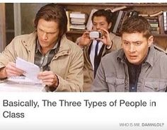 Types Of People In Class - Damn! LOL