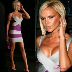 victoria beckam colorblock bandage dress - get this dress here..................