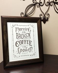 Coffee has Spoken 8x10 Screen Print Poster by AllHandsOn on Etsy