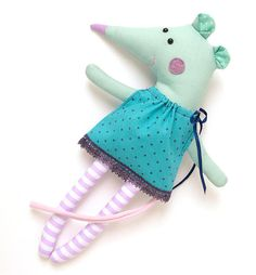 Mouse Soft Toy Handmade Unique toy  12 plush toy