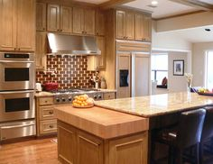 kitchen counter tops | Thick Maple Butcher Block Countertop for a Kitchen in Dallas Texas
