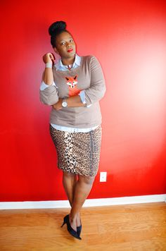 Plus size style inspiration: Old Navy Women's Softest Printed-Crew Sweater