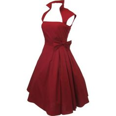 Chicstar Plus Size Gothic Rockabilly Red Rose Belted Party Dress - 18W