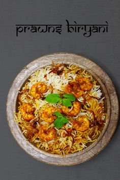 Cooking prawns biryani is much easier than cooking chicken and mutton biryanis.marination time of prawns biryani is very less when compared to others. Prawn Biryani Recipes, Prawn Recipes, Veg Recipes, Seafood Recipes, Indian Food Recipes, Asian Recipes, Chicken Recipes, Cooking Recipes, Arabic Recipes