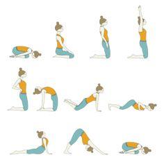 saludo al sol a sentado  posturas de yoga yoga saludo