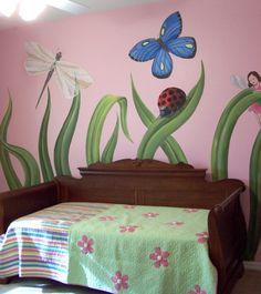 girls bedroom mural idea as seen on www.findamuralist.com
