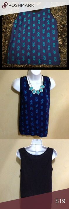 Pixley Blue Tank This high-quality super adorable print top was sent to me via Stitch Fix.  Only worn once!  94% Rayon. 6% spandex. *only selling to downsize pixley Tops Tank Tops