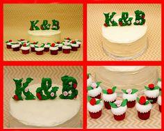 Engagement cake by AddictedtoBake
