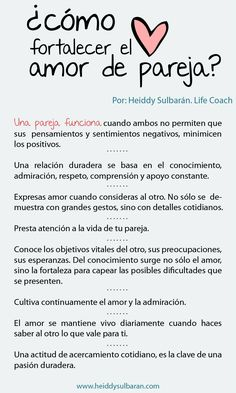 Life Coaching Heiddy Sulbarán.  ¿Cómo fortalecer el amor de pareja? Love Quotes, Inspirational Quotes, Love Phrases, Loving U, Happy Marriage, Relationship Tips, Spanish Quotes, Boyfriend Gifts, Tutu