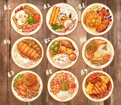 Welcome The only place that serves cat food. by Tabeneko on Etsy Cute Food Art, Real Food Recipes, Yummy Food, Cute Food Drawings, Chibi Food, Food Sketch, Food Cartoon, Watercolor Food, Food Painting
