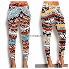 Please specify color when ordering. Aztec Pants, Fashion Outfits, Womens Fashion, Glamour, Fashion Forward, What To Wear, Harem Pants, Your Style, Vogue