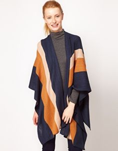 ASOS Wrap Poncho - vintage feel and super cozy looking.