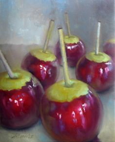 Candied Apples 20 x16 Oil on canvas, painting by artist Hall Groat II