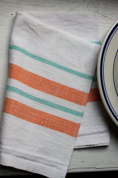 Re-usable and washable hemp napkins instead of disposable, wasteful paper napkins!