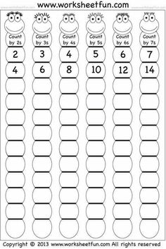 Skip Counting by and 7 – Worksheet / FREE Printable Worksheets – Worksheetfun Kids Math Worksheets, Free Printable Worksheets, Math Activities, Letter Worksheets, Math Multiplication Worksheets, Multiplication Tables, Multiplication Strategies, Array Worksheets, Skip Counting Activities