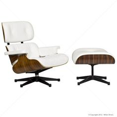 Lounge Chair and Ottoman - Eames nádherně nadčasové křeslo Eames Furniture, Outdoor Furniture, Eames Chair Replica, Buy Furniture Online, Charles Eames, Chair And Ottoman, White Leather, Bar Stools, Country