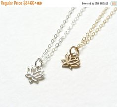 A personal favorite from my Etsy shop https://www.etsy.com/listing/478869338/valentines-sale-tiny-lotus-necklace