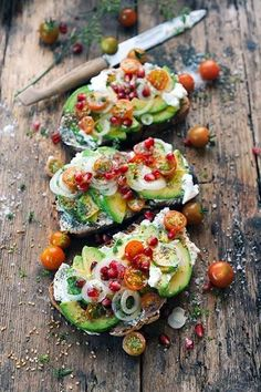 Goat Cheese and Avocado Tartine.